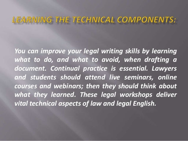 Legal document writing?