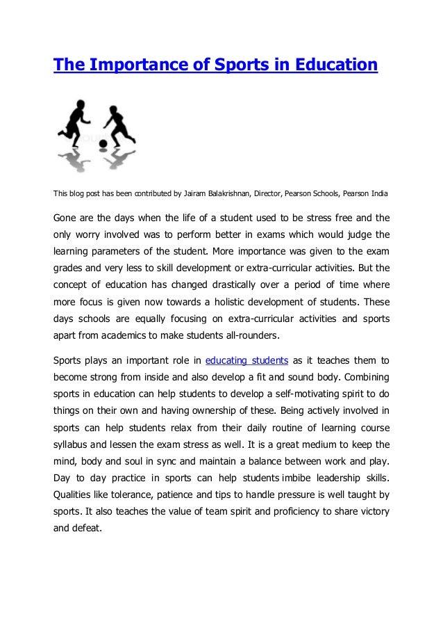 sports essay writing