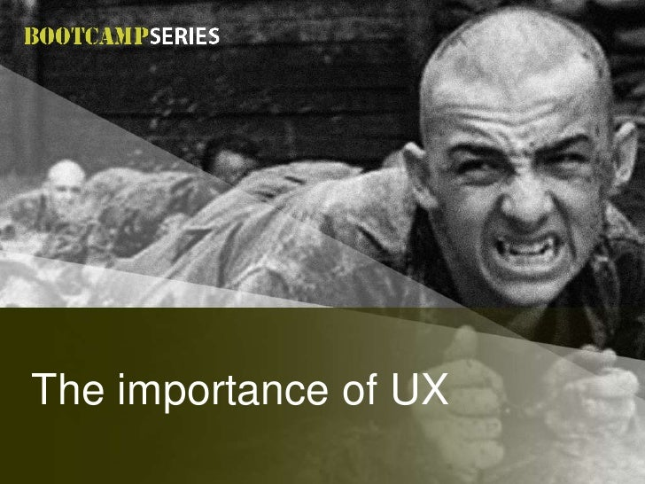 The importance of UX<br />