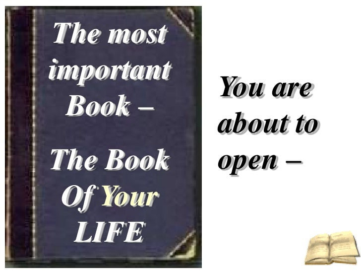 The important book of life