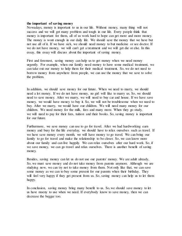 Essay On Money