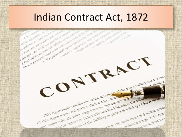 indian contract act Indian contract act - free download as pdf file (pdf), text file (txt) or read online for free.