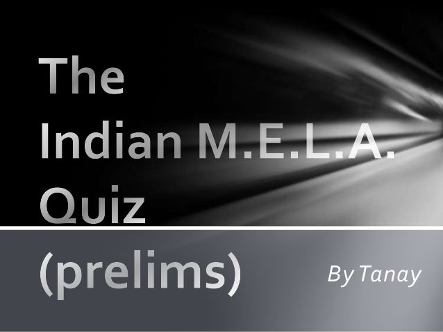 The indian mela quiz answers 2013