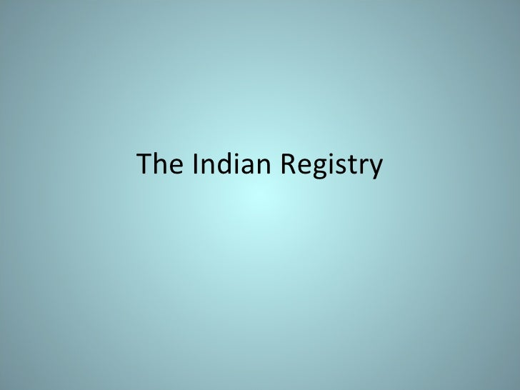 The Indian Registry