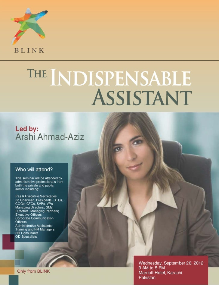 The Indispensable Assistant – A One-Day Seminar!