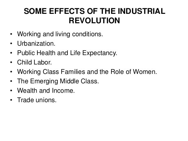 how the industrial revolution affects us