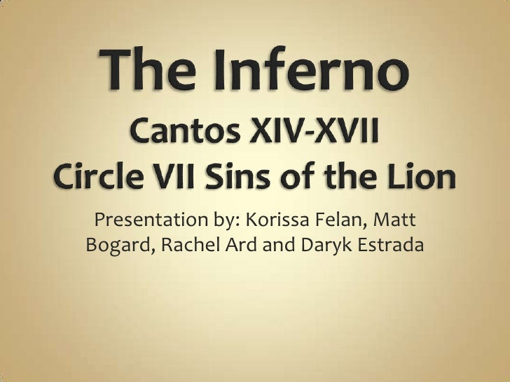 The Inferno Matt Bogard