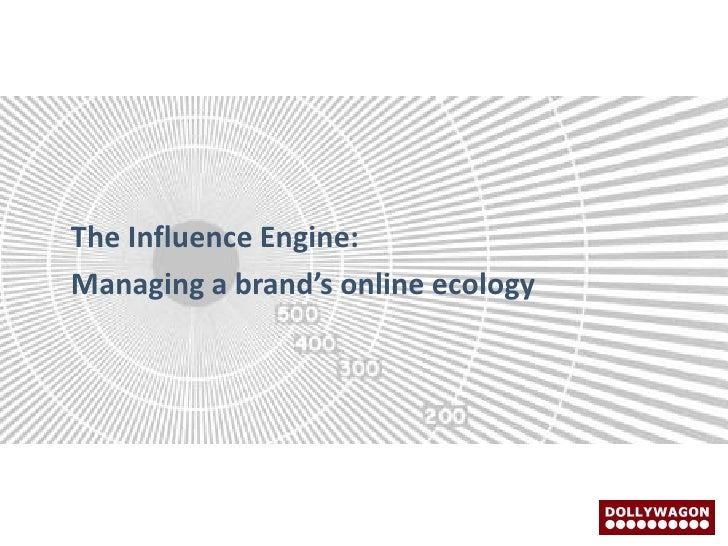 The Influence Engine: Managing a brand's online ecology
