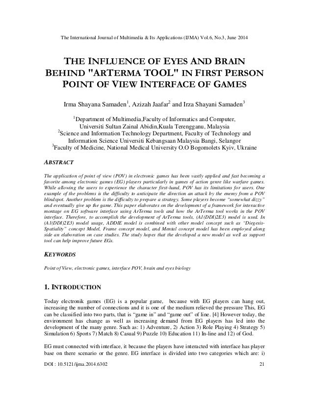 The influence of eyes and brain