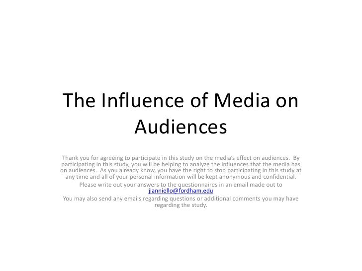 the media's representation and influence of Media definition, a plural of medium see more noun a plural of medium (usually used with a plural verb) the means of communication, as radio and television, newspapers, magazines, and the internet, that reach or influence people widely: the media are covering the speech tonight.