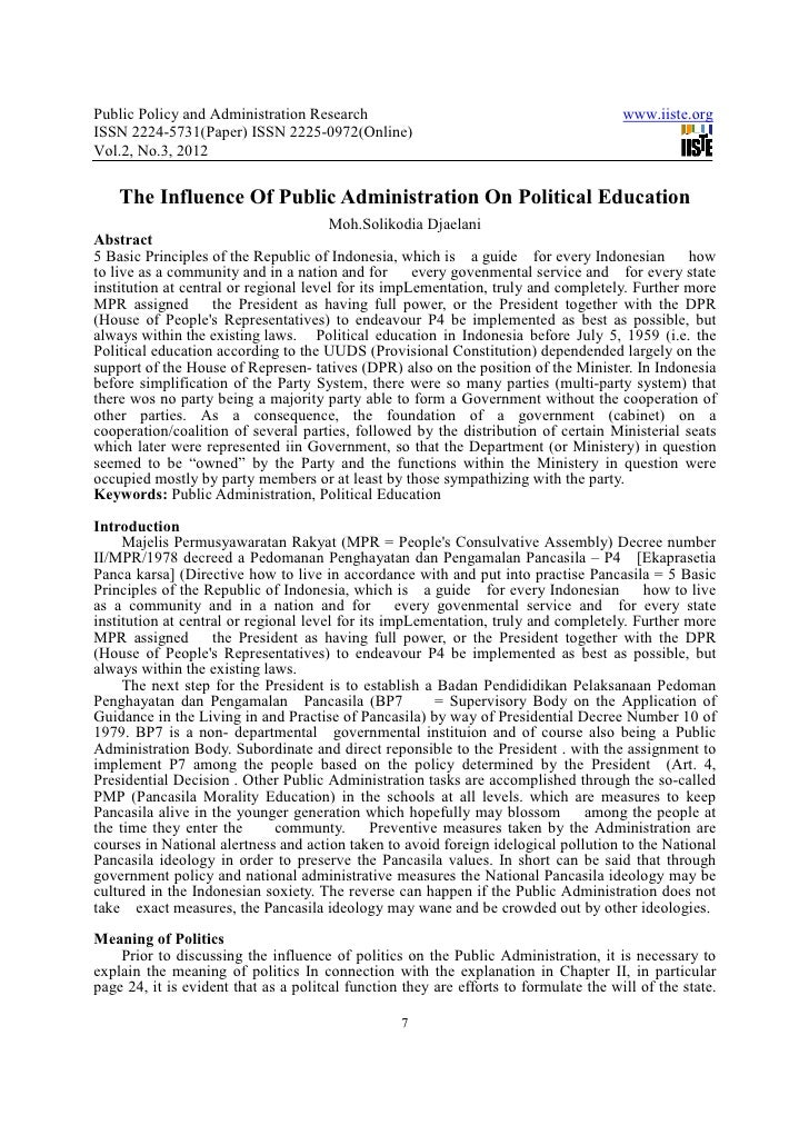 Public Administration write research essay