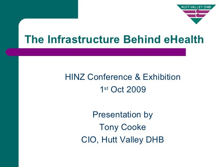 The Infrastructure Behind eHealth