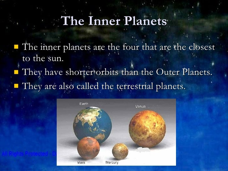 chart showing inner planets planet - photo #5