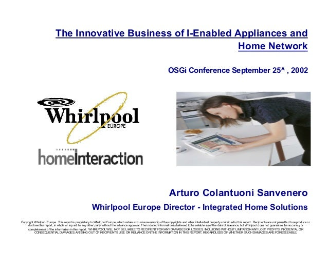 whirlpool europe case study Free essay: whirlpool europe: case 2 whirlpool europe's implementation of an enterprise resource planning (erp) system is a positive business investment one.