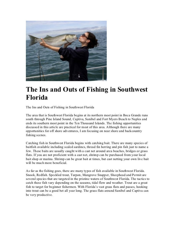 The Ins and Outs of Fishing in SouthwestFloridaThe Ins and Outs of Fishing in Southwest FloridaThe area that is Southwest ...