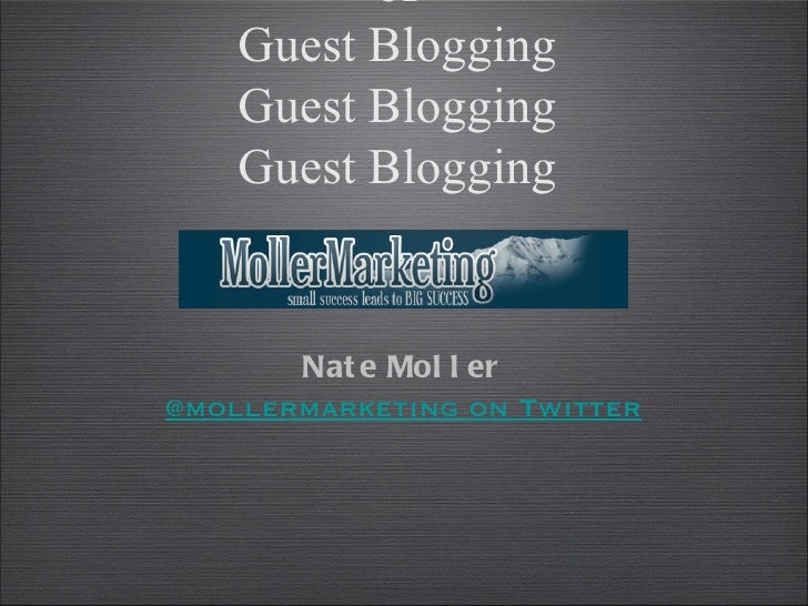 The In's and Out's of Guest Blogging