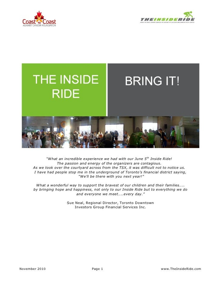 """What an incredible experience we had with our June 5th Inside Ride!                  The passion and energy of the organi..."