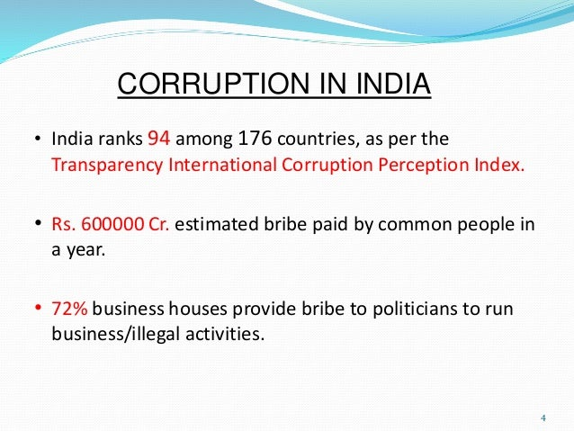 speech on corruption in india causes and remedies This describes how the corruption in india can as well as the root cause of the rampant corruption that has become so and speech for a higher cause.