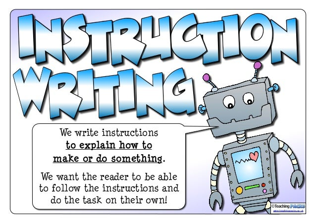 The instruction writing pack for Net making instructions