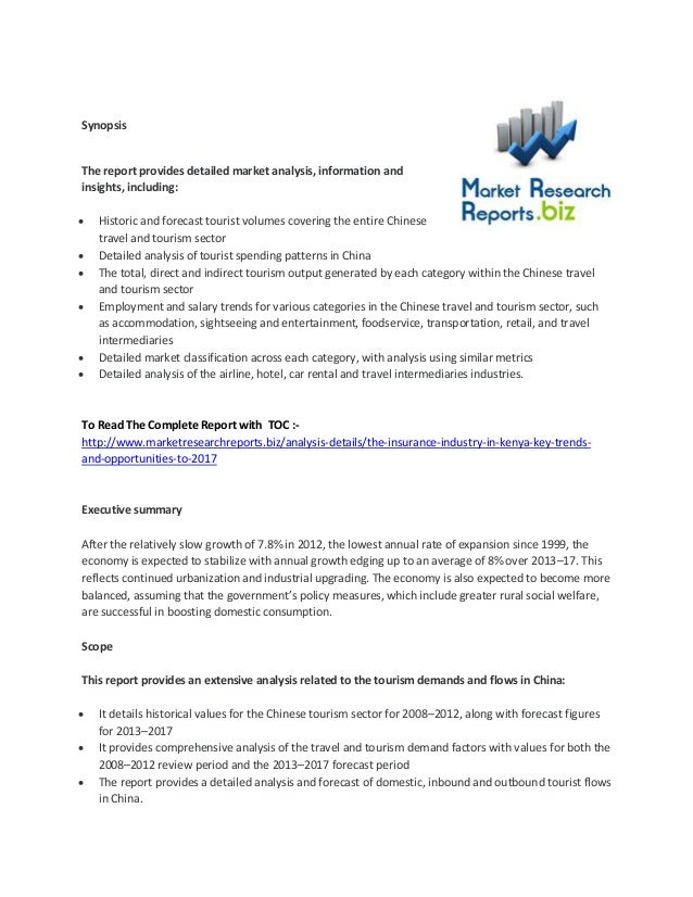 Synopsis The report provides detailed market analysis, information and insights, including:  Historic and forecast touris...