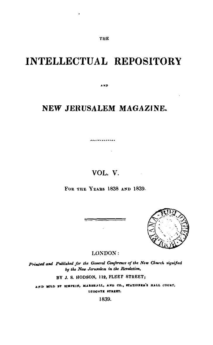 THEINTELLECTUAL REPOSITORY                                     AKD      NEW JERUSALEM MAGAZINE.                           ...