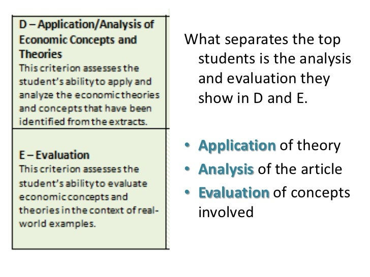 Ib application essay example