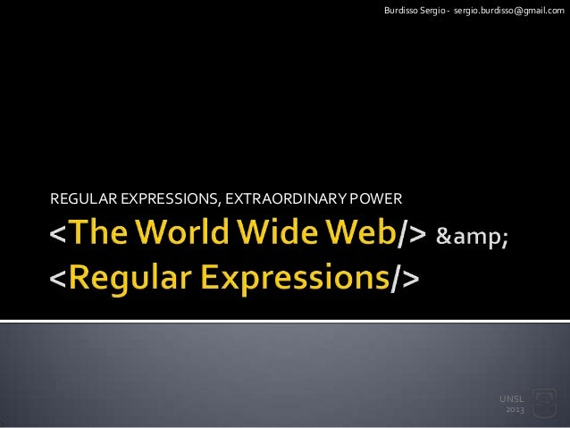regular expressions and the world wide web