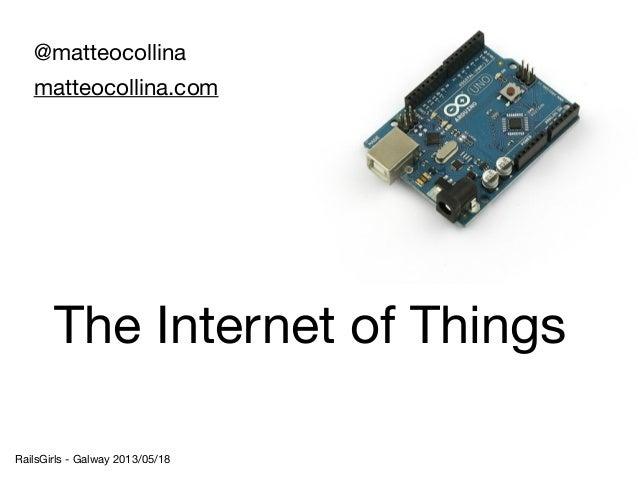 @matteocollinamatteocollina.comRailsGirls - Galway 2013/05/18The Internet of Things