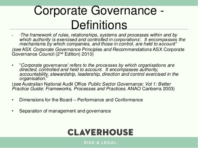 Definition of clinical governance in healthcare