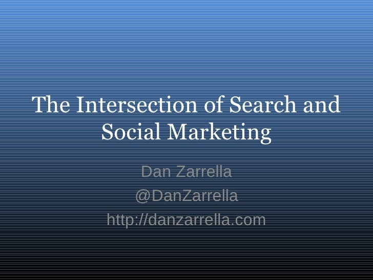 The Intersection Of Search And Social Marketing