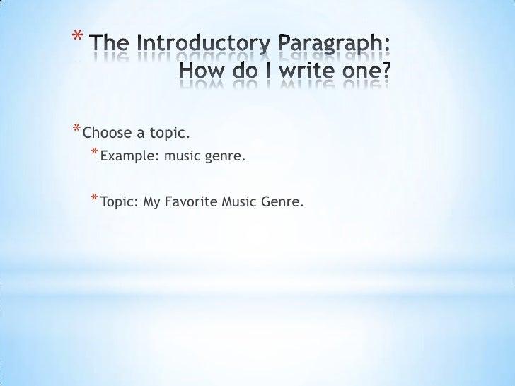 Music Essay