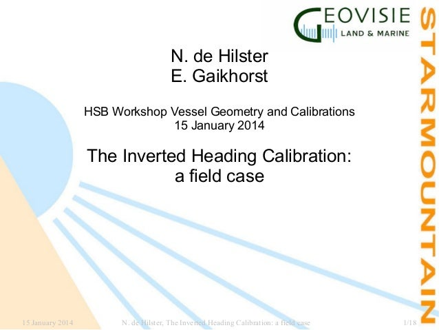 N. de Hilster E. Gaikhorst HSB Workshop Vessel Geometry and Calibrations 15 January 2014  The Inverted Heading Calibration...
