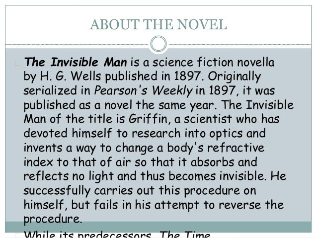invisible man essay Invisible man essay invisible man essay free essays from bartleby | the invisible man is adding to his own identity, his integrating heritage, and reforming his self.