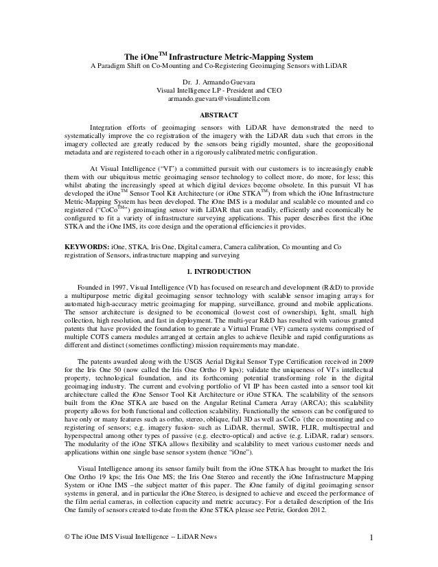 The i one ims   v-iisual intelligence technical white paper - armando guevara