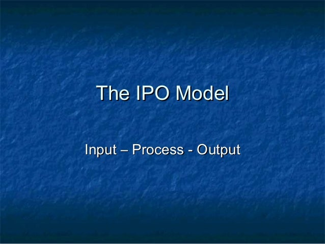 input process output model in thesis