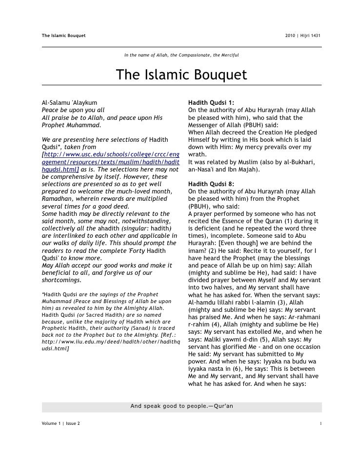 The Islamic Bouquet                                                                          2010   Hijri 1431            ...