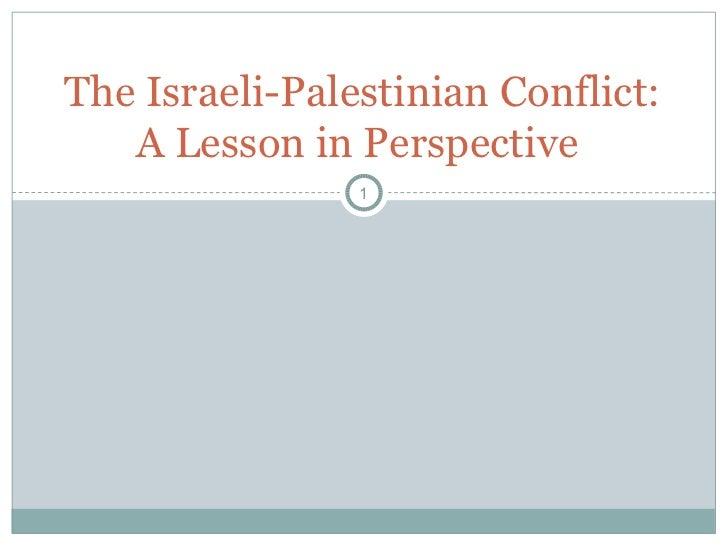 The israeli conflict2