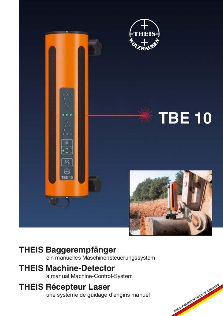 TBE 10THEIS Baggerempfänger      ein manuelles MaschinensteuerungssystemTHEIS Machine-Detector      a manual Machine-Contr...