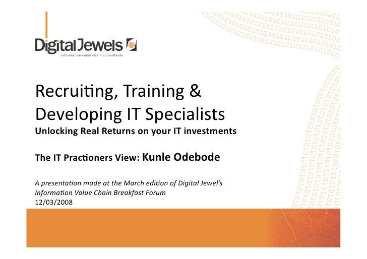 The It Practioners View Kunle Odebode