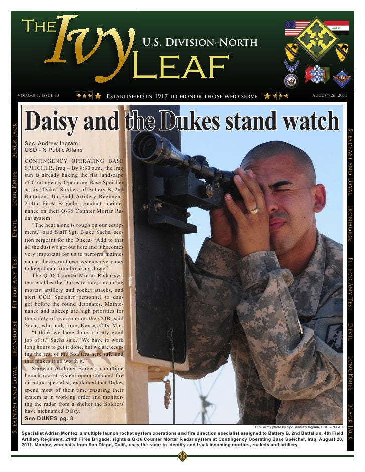U.S. Division-North                 Volume 1, Issue 43                         Established in 1917 to honor those who serv...