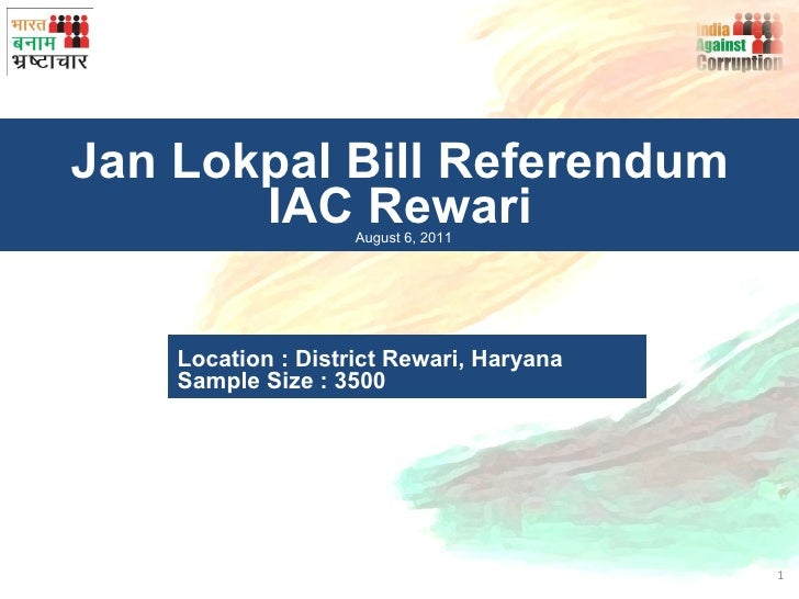 IAC Jan Lokpal Bill Referendum, Rewari