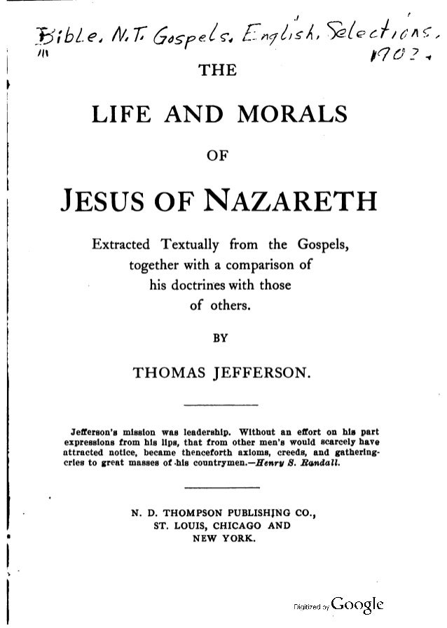 Jefferson Bible, Thomas Jefferson Ver. 2, Free eBook