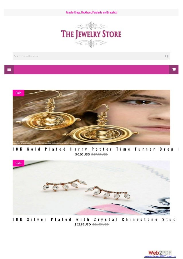   Popular Rings, Necklaces, PendantsandBracelets! Search our entire store  1 8 K G o l d P l a t e d H a r r y P o t t ...