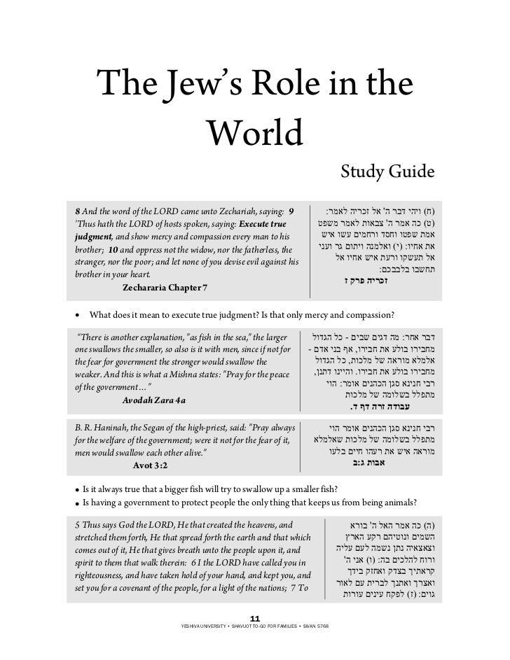 The Jew's Role in the            World                                                                                    ...