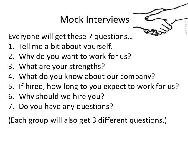 The Job Interview Mock Interview Activity