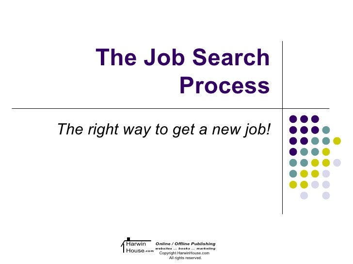 The Job Search            ProcessThe right way to get a new job!          Harwin     Online / Offline Publishing          ...