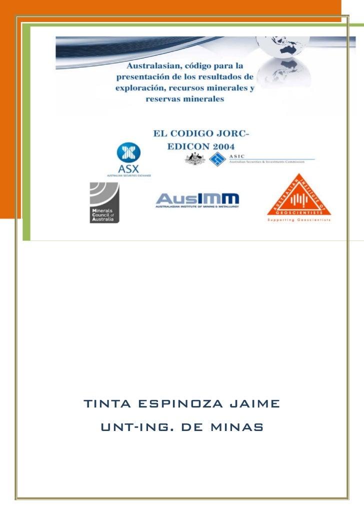 TINTA ESPINOZA JAIME UNT-ING. DE MINAS