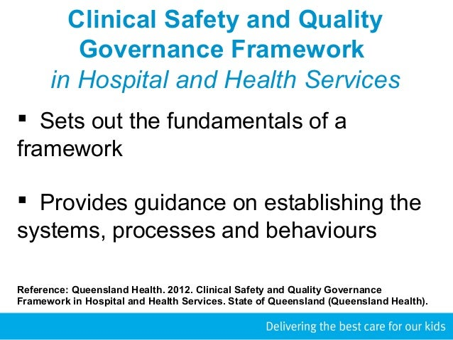 clinical governance in nursing Clinical governance is the term used to describe a systematic approach to maintaining and improving the quality of patient care within a health system it is about the ability to produce effective change so that high quality care is achieved.