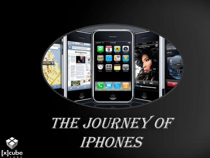 The journey of iPhones