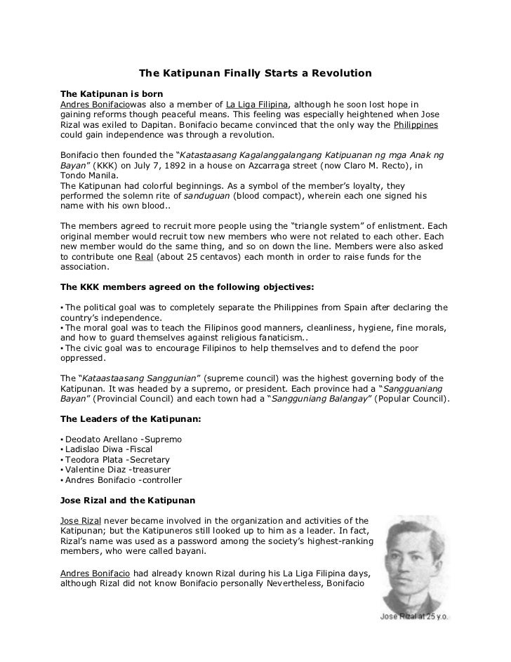 "The Katipunan Finally Starts a Revolution<br />The Katipunan is born<br /> HYPERLINK ""http://en.wikipedia.org/wiki/Andr%C3..."